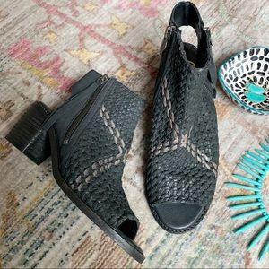 Sam Edelman Cooper Block Heel Woven Leather Sandal